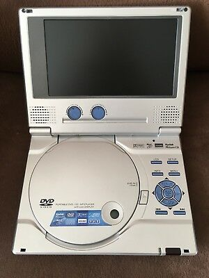 """Portable DVD Player 7"""", includes carrying case"""