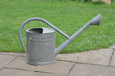 old vintage watering can / metal can with rose / 12.5 L by BAT - FREE DELIVERY