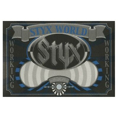Styx authentic Working 2001 tour Backstage Pass