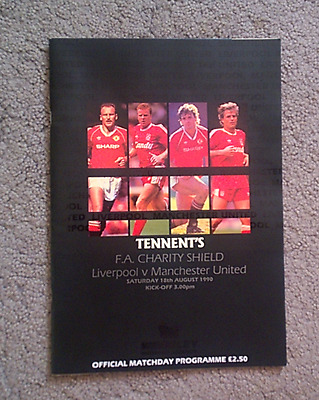 LIVERPOOL v MAN UTD   1990 CHARITY SHIELD PROGRAMME