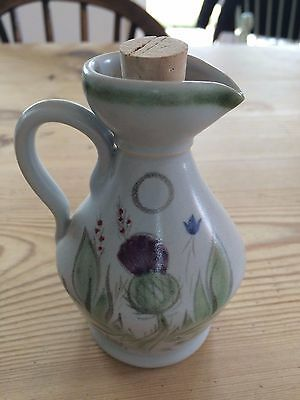 Buchan pottery oil jug Scottish pottery thistles.