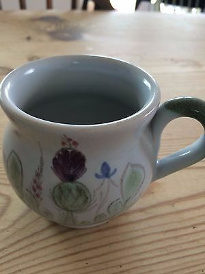 Buchan pottery coffee cup Scottish pottery thistles