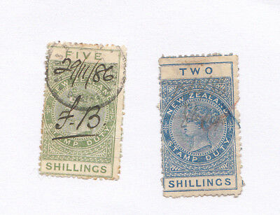 VICTORIA New Zealand Revenue : Stamp Duty 5/- AND 2/-