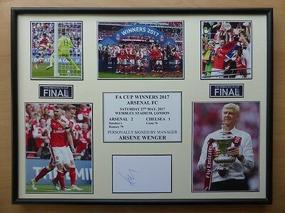 2017 Arsenal FA Cup Winners Display Signed by Arsene Wenger (11432)