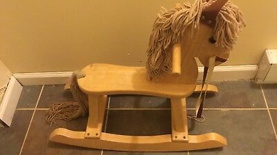 classic wood rocking horse pj toys wooden children's riding toy