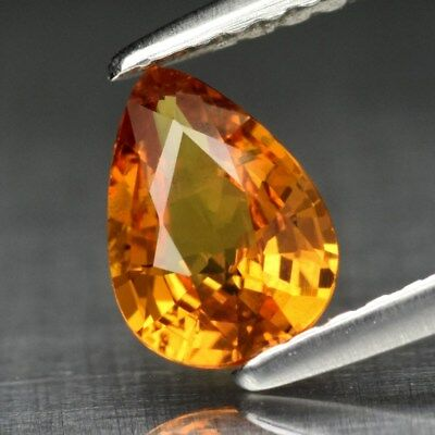 0.77ct 7x5mm Pear Natural Yellow Sapphire Songea, Tanzania