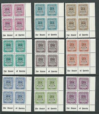 TUVALU Postage Dues - Blocks  of 4 Mint