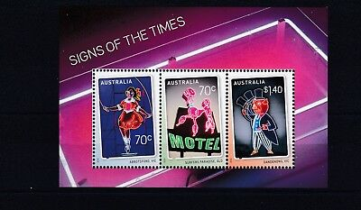 Australia - Sgms4422 Mnh 2015 Signs Of The Times - Historic Neon Signs