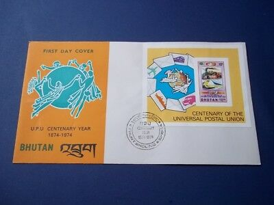 Bhutan Centenary of the Universal Postal Union: First Day Cover.  1974