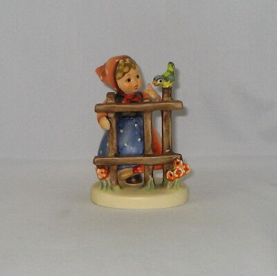 """Hummel Figurine """"SIGNS OF SPRING"""" Hum 203 2/0 Trademark 6 / With Box"""