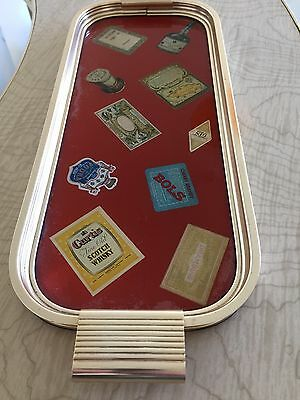 Vintage Cocktail Drinks Tray.