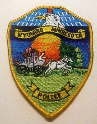 Old Wyoming Minnesota Police Patch
