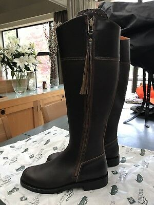 Spanish Riding Boot Equitacion Tassle Brown 41 BNIB or fashion boot UK 8