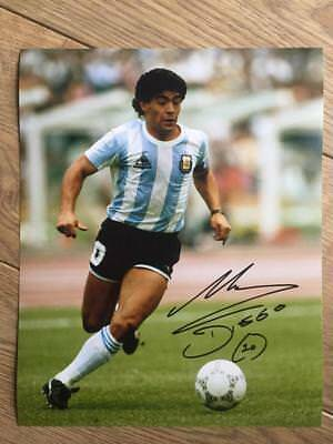 "Diego Maradona Authentic Autographed Signed 8x10 Photo COA ""Soccer, Argentina"""