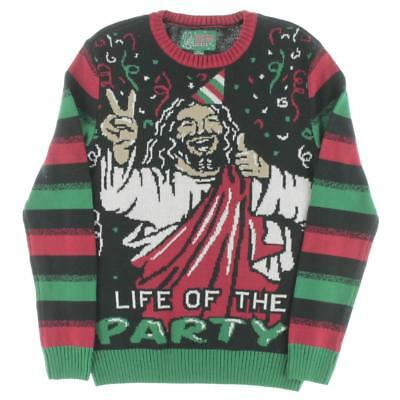 Ugly Christmas Sweater 5905 Boys Black Crew Neck Pullover Sweater Top M BHFO