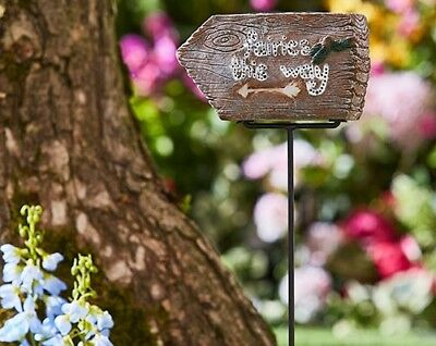 Lovely Fairies This Way Light Up Sign. Garden BNWT