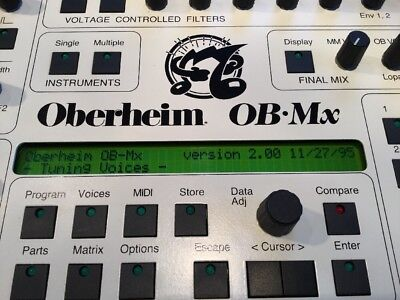 Oberheim OB-MX:Analogue 12-Voice Rack Synthesizer Module Fully loaded! *special*