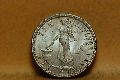 Philippines 1944-D 10 Centavos, KM181, silver, Extremely Fine, NR           1021