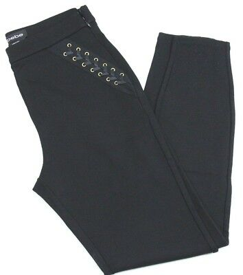 BEBE  Lace Up Black Leggings (BB1200) Size 4 - NEW with Tags - Free Shipping