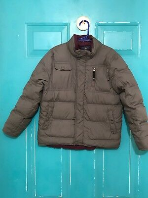 REI Boys Size 6/7Winter Puffer Coat Gray With Purple Lining