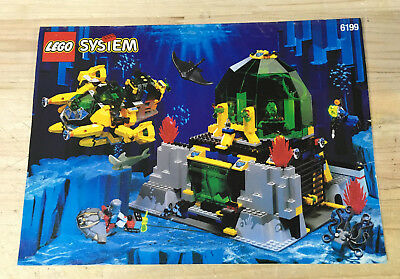 lego bauanleitung aquanauts 6195 unterwasser station ungelocht instructions eur 6 50. Black Bedroom Furniture Sets. Home Design Ideas