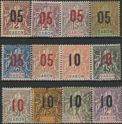 Very Old Stamps from Gabon - French Colonies.