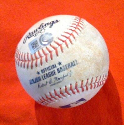 BEN REVERE (Groundout) KEONE KELA 9/17/17 MLB Game Used ANGELS Rangers HAWAII GU