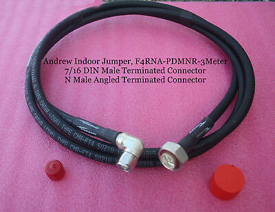 Andrew F4RNA-PDMNR-3 Meter Jumper, DIN MALE, N MALE Connectors, 9.8 ft, NEW