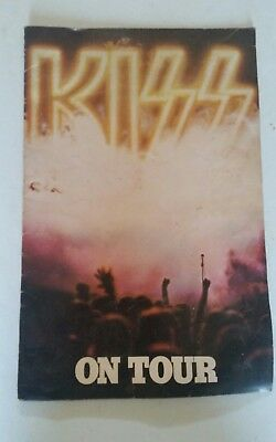 KISS On Tour Destroyer 1976 Concert Program Book with Kiss Army Insert Vintage
