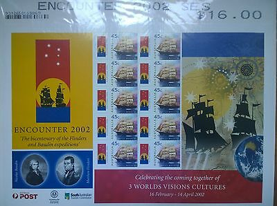 Australia Post 2002 Encounter MNH Smiler/Miniature Sheet