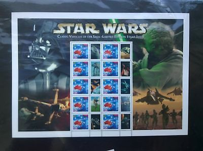 Australia Post Limited Edition Star Wars Vehicles of the Saga Smiler Sheet Pack