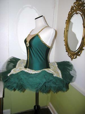 Revolution #587 Dance Costume Body Suit Hunter Green Ballet LA Large Adult