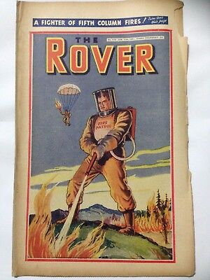 DC Thompson. THE ROVER Wartime Comic. January 11th 1941 Issue 978.