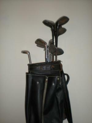 Joblot Vintage 1930's 11 x Arthur Lacey Metal Shafted Golf Clubs + Bunny Putter