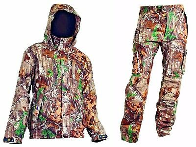 Scent Blocker Outfitter- Jacket / Pant Combo- Realtree Xtra- With Trinity- Large
