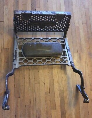 Antique Berninghaus Barber Chair Metal Footrest WITHOUT Padding