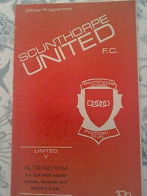 Scunthorpe United V Altrincham  FA Cup programme 1974