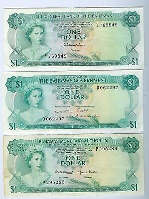 Bahamas Notes: 3x Dollars 1965-68 & 74..Total Cat: $150