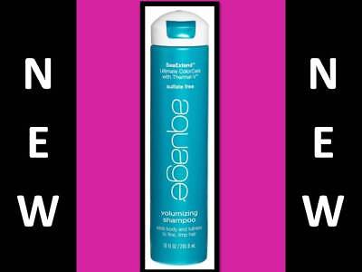 Aquage Sea Extend Volumizing Shampoo 10 Oz Adds Body Volume Fullness / Fine Hair