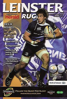 Leinster Rugby v Benetton Treviso - Magners League Programme 2011