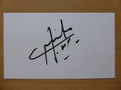 Hand Signed Football Index Cards *****H***** Page 2