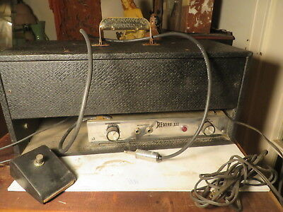 Rare 60's Gibson REVERB III w/ original footswitch   Sounds very surfy  Tres coo
