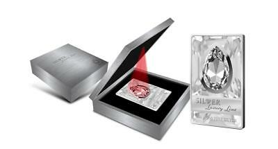 Cook 2013 $20 Silver Luxury Line II 100g Silver Proof Coin with Huge Swarovski