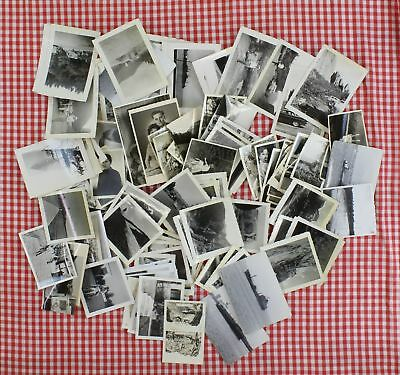 Lot of 100 Vintage Photo Snapshots Mixed Unknown People Family Rural City Travel