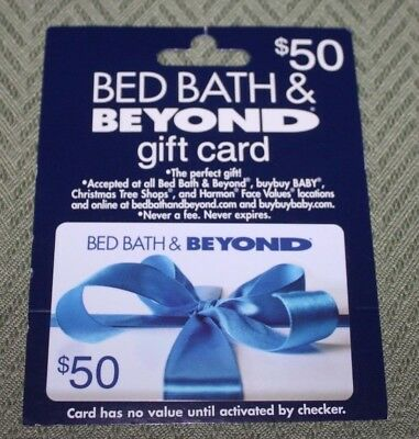 New Gift Card Bed Bath and Beyond $50 Dollars