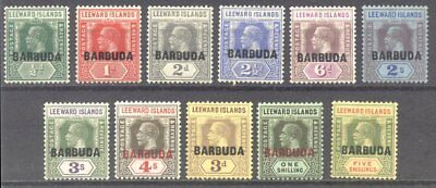 BARBUDA #1-11 Mint - 1922 K G V Set