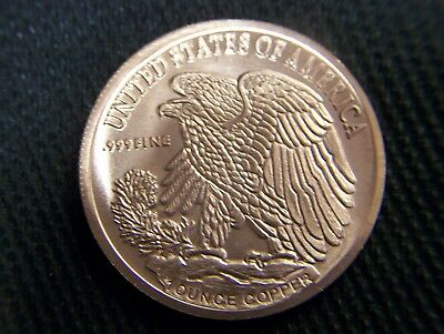 "TRIBUTE COIN  ""LIBERTY WALKER""  ONE TROY OZ. .999 * FINE UNCIRC/...fast delivery"
