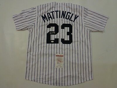 DON MATTINGLY autographed signed Yankees pinstripe jersey JSA Witness