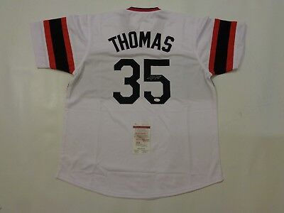 FRANK THOMAS autographed signed White Sox Throwback jersey JSA Witness