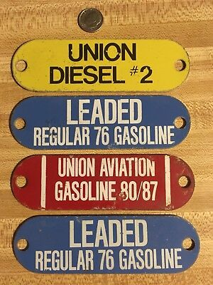 Unleaded Gasoline, Union Aviation ,Heating Oil, Diesel  Porcelain Sign Tags